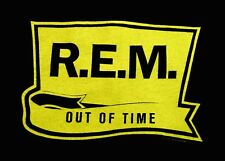 R.E.M. T-Shirt Out Of Time 2-Sided Large Black & Yellow 1991 Vintage Original