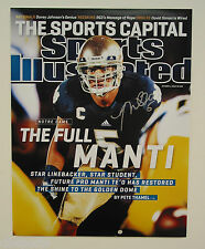 Manti Te'O signed 11x14 Si Cover Sports Illustrated 10/1/12 October 12, 2012 Teo