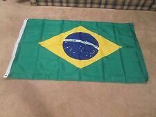Large Brasil National Flag; Brazilian Banner Football World Cup 5X3'   Soccer