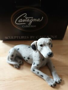 CASTAGNA DALMATIAN DOG FIGURE SIGNED MADE IN ITALY