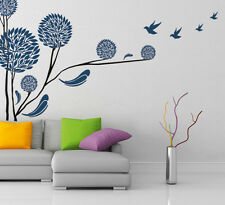 5700047 | Wall Stickers Tree in Blue Colour Home Modern Art Birds