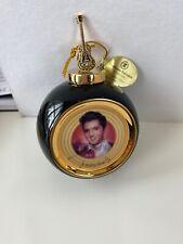 Bradford 1999 Solid Gold Elvis Ornament Teddy Bear Nwob