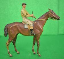 'Vienna Geschutzt Cold-Painted Bronze c.1910's Jockey Up on Racehorse'