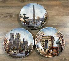 3 Limited Edition Porcelain Collector Plates D-Arceau Limoges