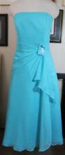 Edens Maid blue chiffon evening bridesmaid cocktail dress 6