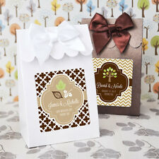 96 Personalized Autumn Wedding Candy Boxes Bags Favors