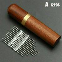 Portable 24Pcs Stainless Steel Self-threading Needles Opening Sewing Darning Set