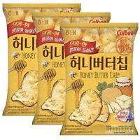 Calbee Honey Butter Chips-(3packs), Potato Chips.US-Seller+Free Gift & Samples.