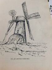 Ephemera 1954 Book Picture Ashtree Farm WindMill Side View M5018