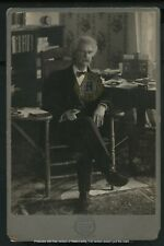 Vintage Author Cabinet Card Photograph: Mark Twain by Pach Bros c. 1903