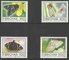 Timbres Papillons Féroé 246/9 ** année 1993 lot 1801