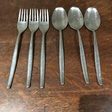 Paul Wirths Flatware Germany Lot Of 6 (3 Forks 3 Spoons) Stainless 18/10 Modern