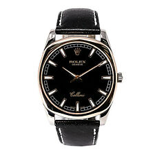 ROLEX CELLINI DANAOS 4243 MEN'S WATCH 18K WHITE AND ROSE GOLD WITH BOX 38MM