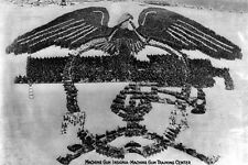 New 5x7 Photo: Soldier Formation of Machine Gun Insignia, Camp Hancock - 1918