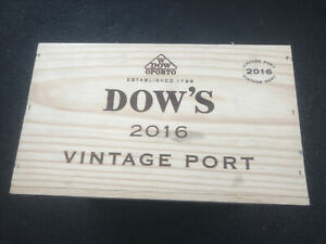 Wine Box Case Wooden Crate 6/750ml  Dow's Vintage Port (2016)