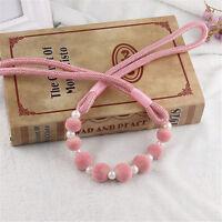 80cm Tie Backs Tiebacks Pearls and Pom-poms Beaded Holdbacks Curtains & Voiles