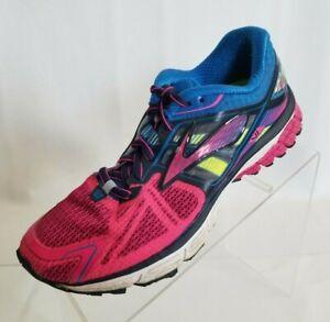 Brooks Womens Ravenna 6 Running Training Hot Pink Blue Lace Up Shoes Size 7.5