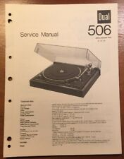 DUAL 506 TURNTABLE ORIGINAL SERVICE MANUAL P121