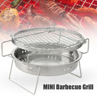 Folding BBQ Grill Outdoor Garden Charcoal Barbecue Stove Camping Travel