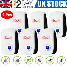 6 pcs 2020 Ultrasonic Pest Repeller Control Electronic Repellent Mice Rat Reject