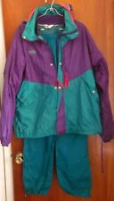COLUMBIA SPORTSWEAR throwback lined track suit lrg Outdoors hip hop kitschy