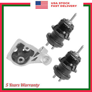 Set of 3PCS New Engine Motor Mount For Subaru Legacy Outback 2.5L H6 2010-2012
