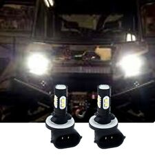 2Pcs 100W Led Headlights Bulbs Lamps White For Polaris Sportsman Ranger Rzr 570