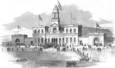 IRELAND. National exhibition at Cork, antique print, 1852