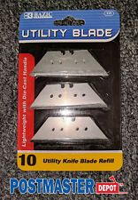 BAZIC UTILITY KNIFE REPLACEMENT BLADES RAZOR SHARP 10 PACK EASY REFILL NEW