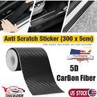 Car Door Sill Scuff Cover Sticker Antiscratch 5D Carbon Fiber Strip 5cm x 300cm