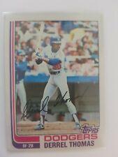 1982 Topps Derrel Thomas #348 Dodgers SIGNED