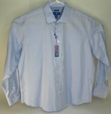 Egara Non-Iron Slim Fit Men's 2XL Blue Long Sleeve Button Front Shirt