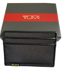 TUMI Alpha Slim ID Lock Nylon Card Case w/ ID Window Black/Reflective Brt. Lime