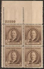 US Stamp 1940 Frederic Remington Plate Block of 4 Stamps NH #888