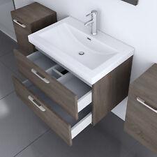 Badmöbel Set Badezimmermöbel Unterschrank Spiegel Gussmarmor Waschbecken BAVARIA