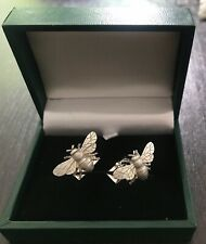 Holland & Holland Bee Silver Sterling Cufflinks