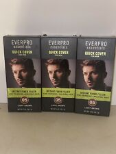 Lot Of 3 Everpro Quick Cover for Men w/ Thinning/Balding Hair Light Brown 05