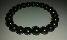 Shungite bracelet (d-8mm) on elastic 24 pieces