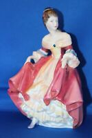 Vintage Royal Doulton Southern Belle HN 2229 8 inch Tall Pink Porcelain Figurine