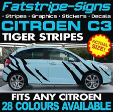 CITROEN C3 GRAPHICS TIGER STRIPES CAR VINYL DECALS STICKERS VTR 1.4 1.6 VTI HDI