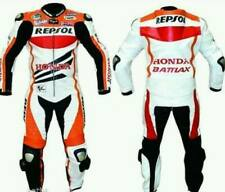 Honda Repsol Motorbike Leather Suit Cow Hide In 1 Or 2 Pc /Ce Approved Armours