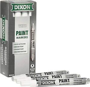 Dixon 80229 White Valve Action Paint Pens (Dozen)