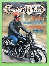 vélo classique - Août 1984 - 350cc AJS 38 / 7R - 1000 VINCENT Noir ombre