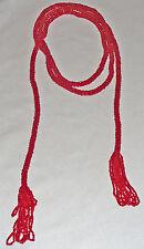 """Vintage beaded tassel rope, multi-functional 55"""" long"""