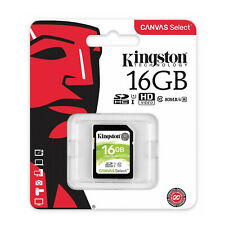 Kingston 16GB Canvas Select SD SDHC Class 10 UHS-1 80MB/s R Memory Flash Card