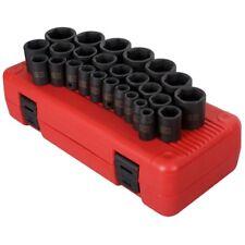 "Sunex Tools 2645 26 Pc. 1/2"" Drive Metric Impact Socket Set"