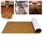 Marine Flooring Mat Wood Brown Faux Teak Foam Boat Yacht Decking Sheet Pad SALE