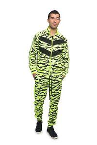 Men's Tiger Reflective Jogging Track Suits Track Pant&Jacket Sweatsuit Set ST576