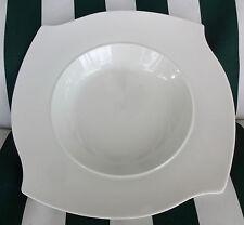"Sabatier Onda 7000 White Porcelain Rimmed Bowl by Hanns Wellng 9"""