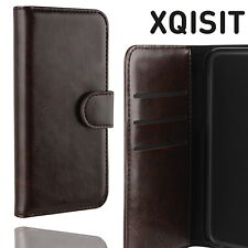 Xqisit iPhone 5 5S SE Eman Wallet Case Magnetic Leather Flip Book Cover Brown